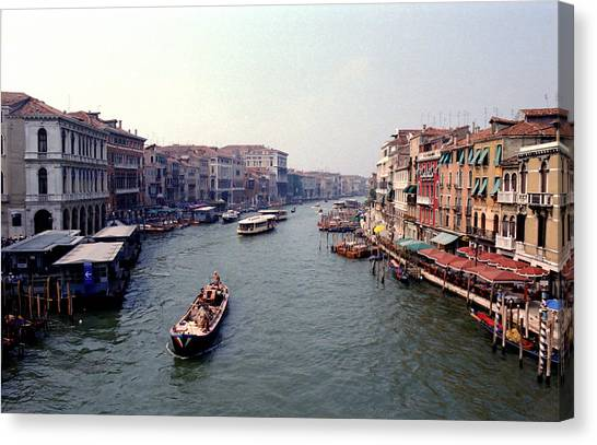 View From A Bridge Canvas Print