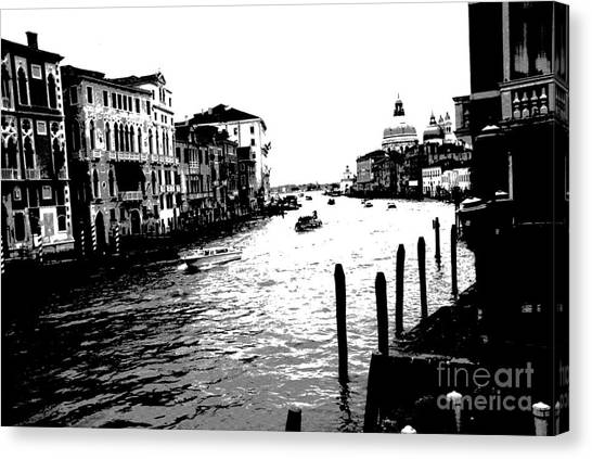 View From Accademia Bridge Canvas Print by Jacqueline M Lewis