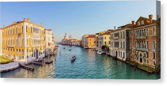 View From Accademia Bridge On Grand Canvas Print by Dietermeyrl