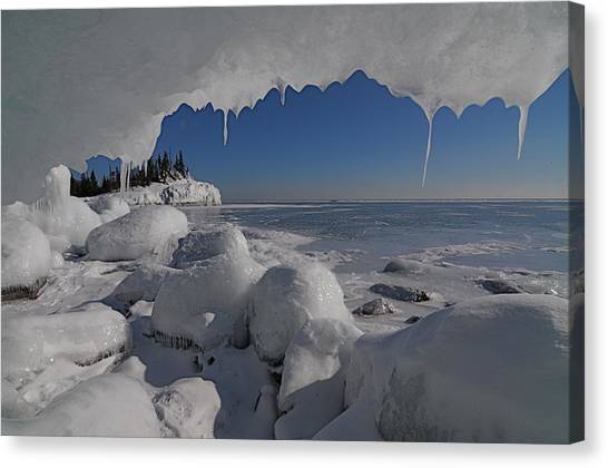 View From An Ice Cave Canvas Print