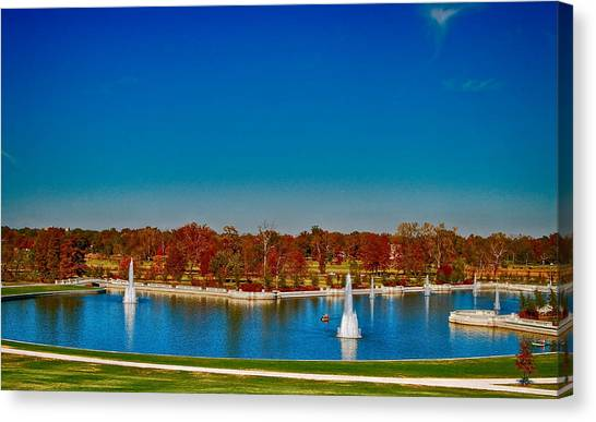 View From Art Hill Forest Park Missouri Canvas Print