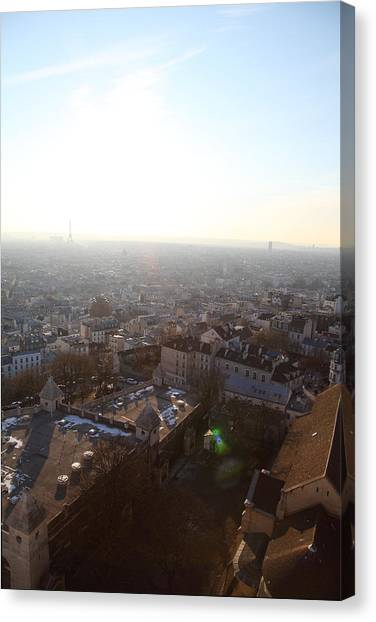 View From Basilica Of The Sacred Heart Of Paris - Sacre Coeur - Paris France - 011314 Canvas Print by DC Photographer