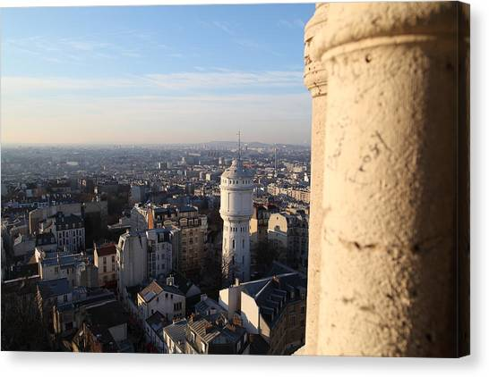 View From Basilica Of The Sacred Heart Of Paris - Sacre Coeur - Paris France - 01138 Canvas Print by DC Photographer