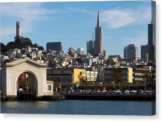 View From Bay Canvas Print by Bernard  Barcos