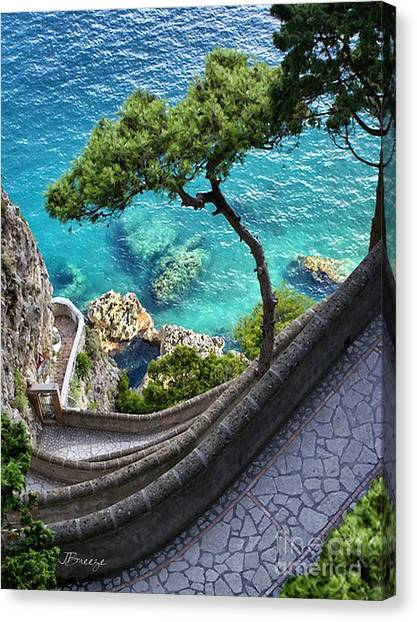 View From Capri.italy Canvas Print