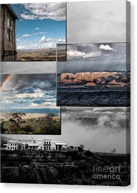 View From Jerome Canvas Print by David Mendoza
