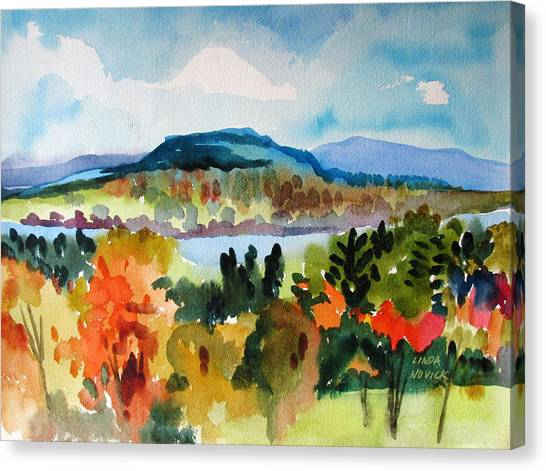 View From Kripalu In Fall Canvas Print