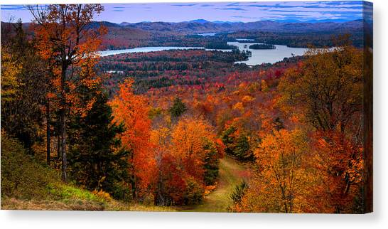 View From Mccauley Mountain II Canvas Print