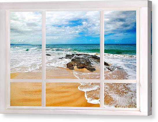 View From My Beach House Window Canvas Print