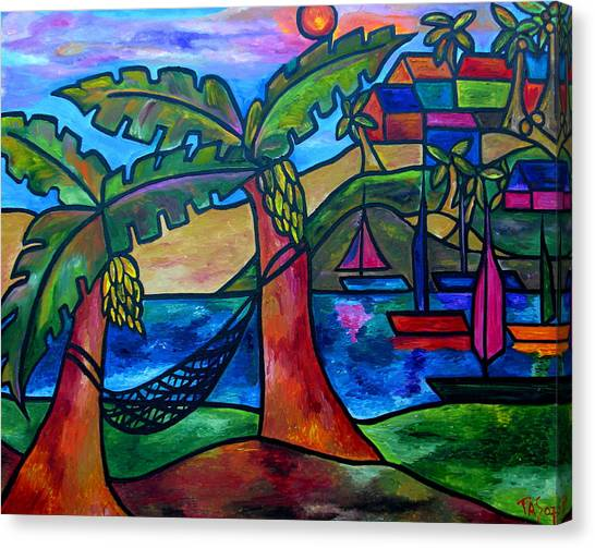 View From My Villa Canvas Print
