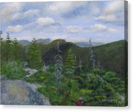 Canvas Print featuring the painting View From Noon Peak by Linda Feinberg