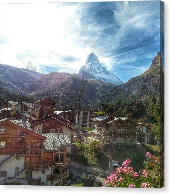 Matterhorn Canvas Print - View From Our Balcony #matterhorn by Sarah Smith
