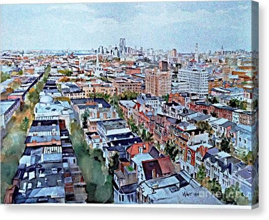 View From Penthouse Prospect Park West Canvas Print
