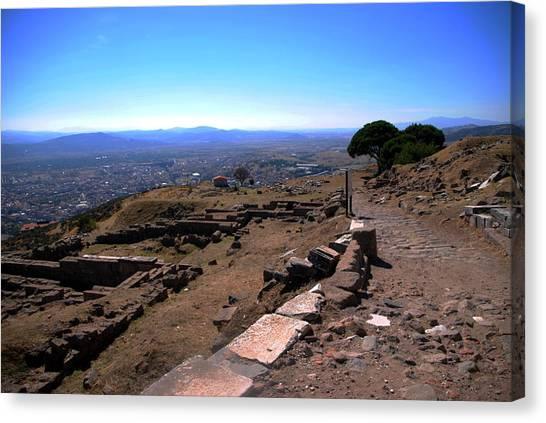 View From Pergamum Acropolis Canvas Print by Jacqueline M Lewis