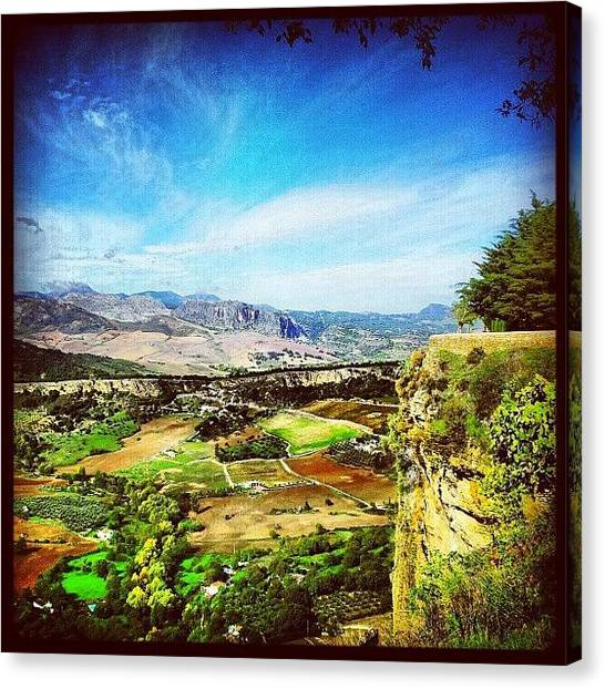 Ford Canvas Print - View From #ronda #andalusia #spain by Alistair Ford