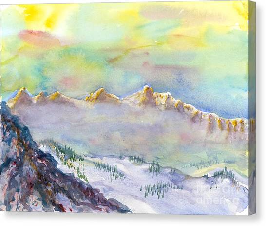 View From Snowbird Canvas Print