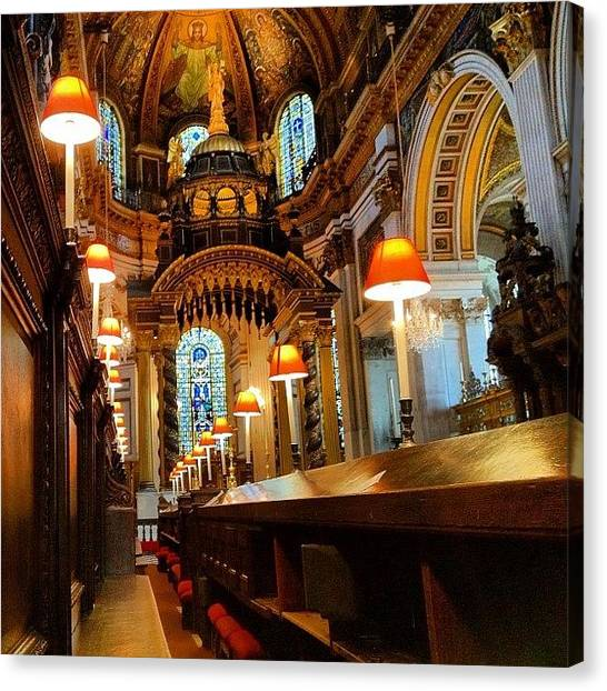 Wrens Canvas Print - View From. St Paul's. #interior by Alex Nisbett