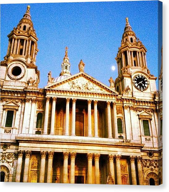 Wrens Canvas Print - View From. #stpaulslondon #winter by Alex Nisbett