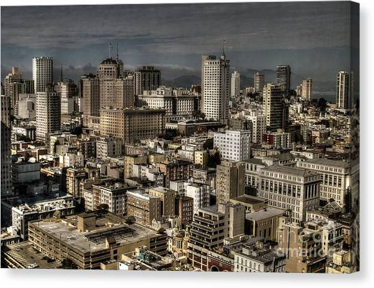 View From The 31st. Floor Canvas Print by Sylvia Blaauw