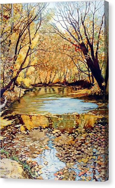 View From The Covered Bridge Canvas Print