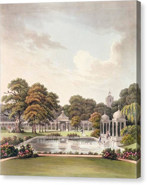 Influence Canvas Print - View From The Dome, Brighton Pavilion by Humphry Repton