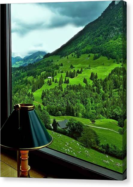 View From The Goldenpass Canvas Print