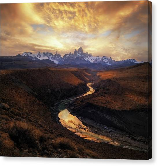 South American Canvas Print - View From The Gorge by Yan Zhang