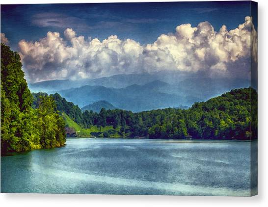View From The Great Smoky Mountains Railroad Canvas Print