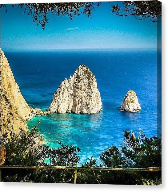 Ford Canvas Print - View From The Keri Lighthouse Taverna by Alistair Ford