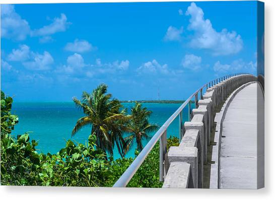 View From The Old Bahia Honda Bridge Canvas Print