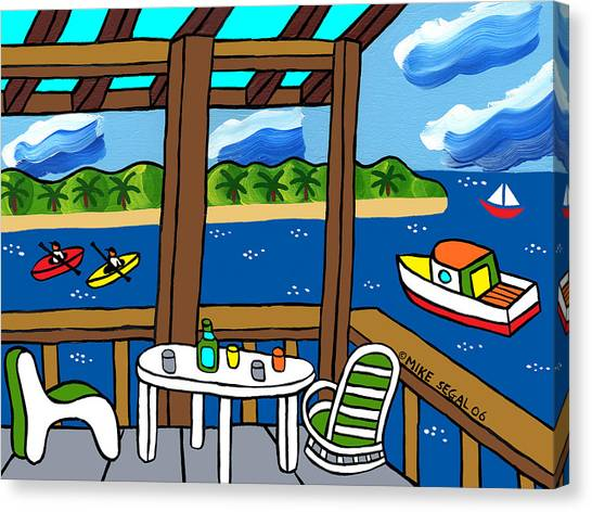 View From The Porch - Cedar Key Canvas Print