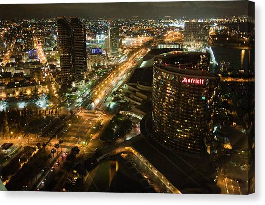 View From Top Of The Hyatt Canvas Print