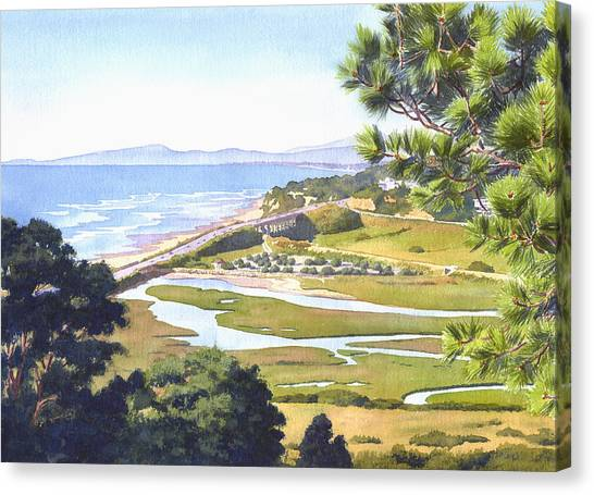 Mars Canvas Print - View From Torrey Pines Del Mar by Mary Helmreich