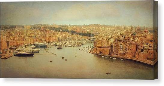 Yacht Canvas Print - View From Upper Barakka, Valletta, Malta by Ellen Van Deelen