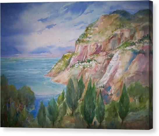 View From Villa Brunella Canvas Print by Sue Kemp