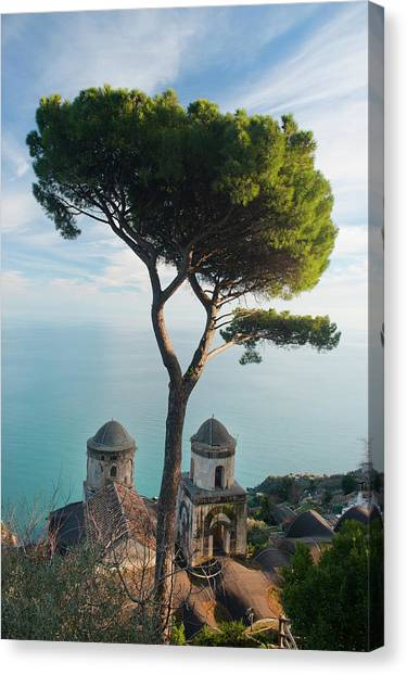 View From Villa Rufolo Canvas Print by Christopher Groenhout