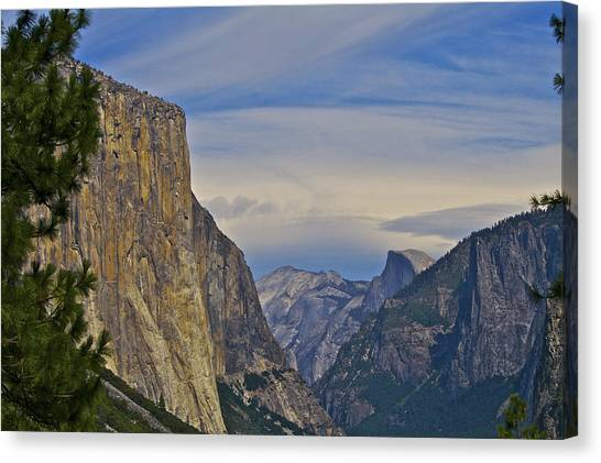 View From Wawona Tunnel Canvas Print