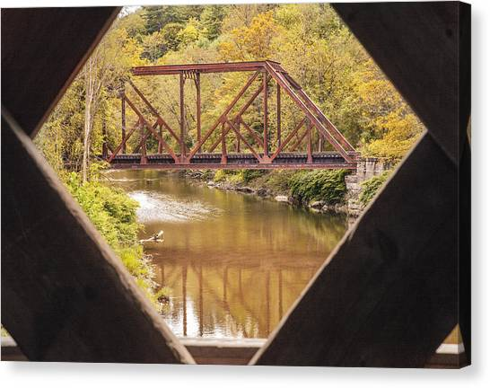 View From Worrall Covered Bridge Canvas Print