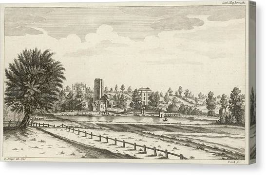 View Near Lichfield  (staffordshire) Canvas Print by Mary Evans Picture Library