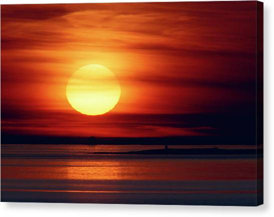 Sunset Horizon Canvas Print - View Of A Spectacular Sunset by Pekka Parviainen/science Photo Library