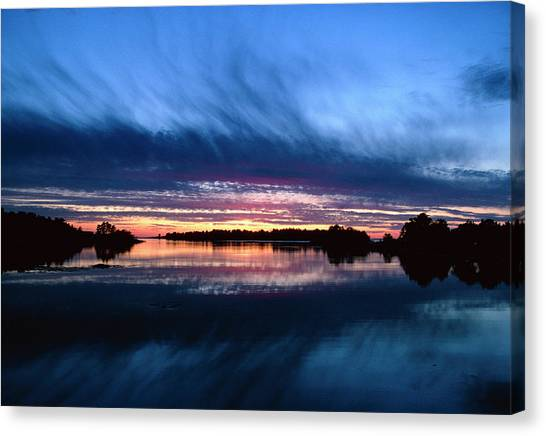 Sunset Horizon Canvas Print - View Of A Sunset by Pekka Parviainen/science Photo Library