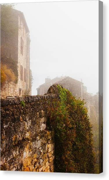 Corde Canvas Print - View Of A Town In Fog, Cordes-sur-ciel by Panoramic Images