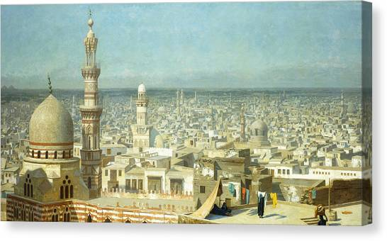 Academic Art Canvas Print - View Of Cairo by Jean Leon Gerome
