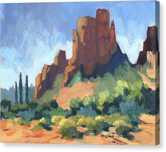 Cathedral Rock Canvas Print - View Of Cathedral Rock Sedona by Diane McClary