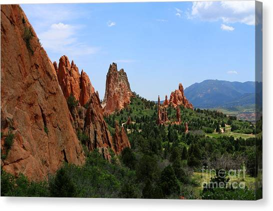 Canvas Print - View Of Cathedral Valley - Garden Of Gods by Christiane Schulze Art And Photography