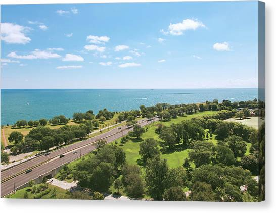 View Of Chicago, Lake Michigan, Lake Canvas Print