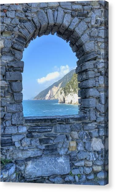 View Of Cinque Terre From Portovenere Canvas Print