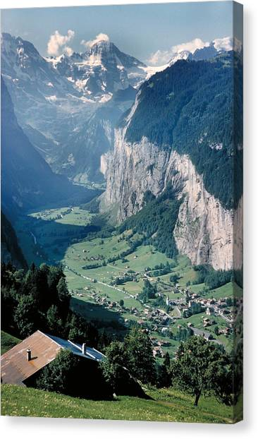 Amazing View Of Swiss Valley Canvas Print by Carl Purcell