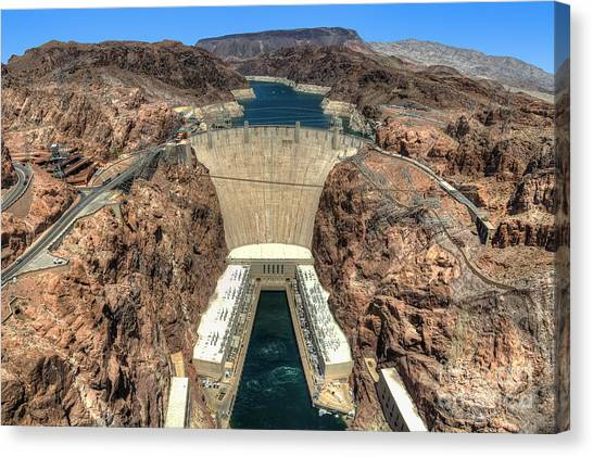 View Of Hoover Dam Canvas Print