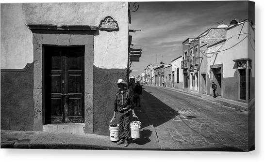San Miguel De Allende Canvas Print - View Of Houses Along A Street, San by Panoramic Images